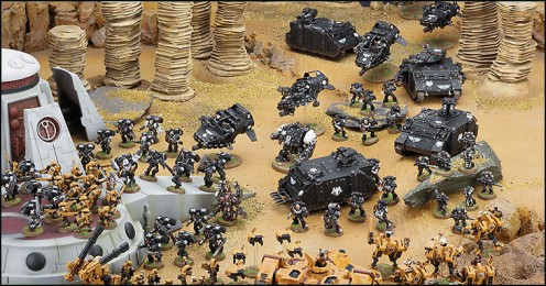 Tau v Space Marines from Warhammer 40K