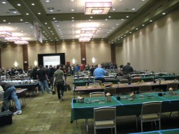 Players at a tournament