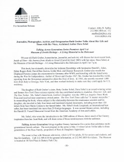 This is a media release about the event. A documentary about Gruber titled, Ahead of Time, was released in December 2010. Look for it online.
