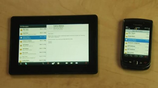 Blackberry Playbook pairing