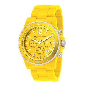 Michael Kors Acrylic Yellow Watch