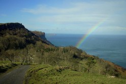 Rainbow over the Antrim Coast. Photo by TS Drown (flickr)