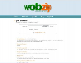 Display Page of WobZip