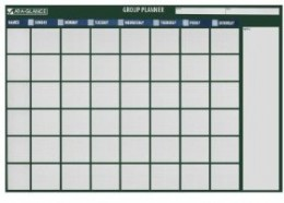 A rewritable calendar because we all make mistakes.