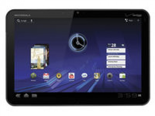 The Motorola Xoom has a good screen size.