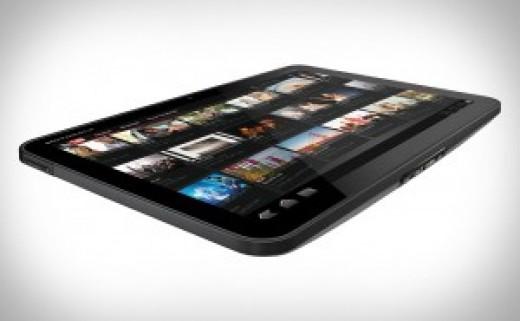 The HD playback looks amazing on the Motorola Xoom.