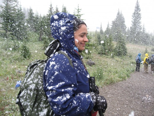 Reshma was not expecting SNOW in AUGUST
