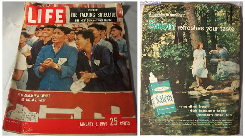 Old Vintage Life Magazine January 5, 1959 - AntiU.S. Rallies in the New China