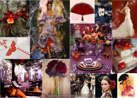 Purple Orange and Red color combination for Wedding ideas