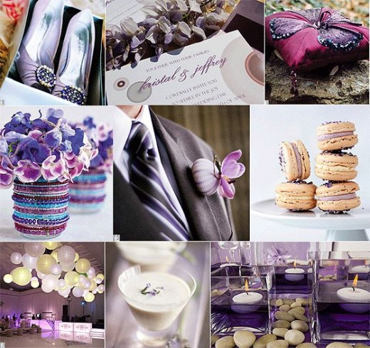 Purple Ivory and Teal combination for Wedding Ideas