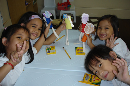 We encourage the kids to express their creativity.