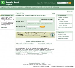 TD Canada Trust Main Login