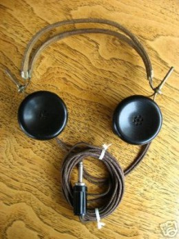 "Typical sensitive headphones for either a AC or battery powered radio or a Crystal set of the early 1920's and for  ""Ham"" Radio use up to the 1950's"