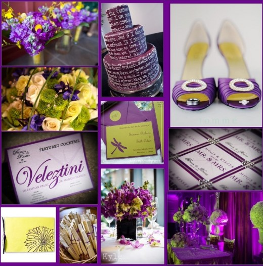 Purple Lime Green and Ivory combination for Wedding Ideas