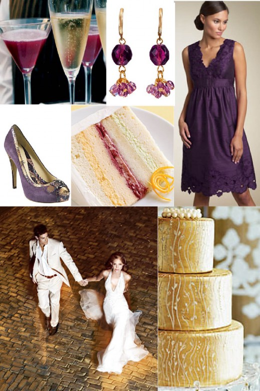 Purple and Gold combination for Wedding Ideas