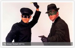 Bruce Lee and Van Williams as Kato and The Green Hornet.