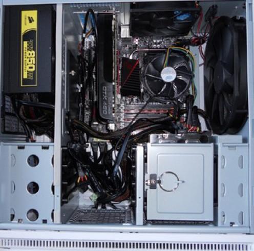 installed motherboard