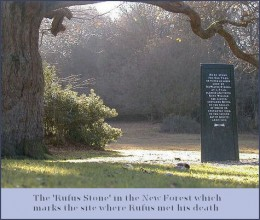 A stone to mark the spot where the King fell