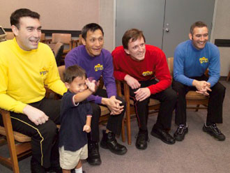 The original Wiggles, with Greg Page.