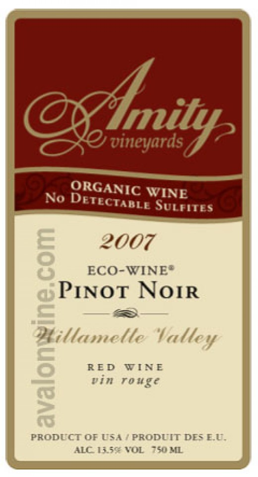 Amity Pinot Noir - Organic Wine
