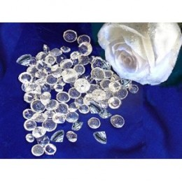 Incredible Edible Sugar Diamonds, 100 pieces by naturally GiftedNY