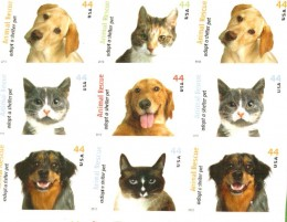 Cat and Dog stamps