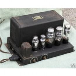 "A typical all triode, push-pull amp of the late 1930's, used in jukeboxes, organs and radios, with about fifteen watts of power, enough to drive a 12"" loudspeaker"