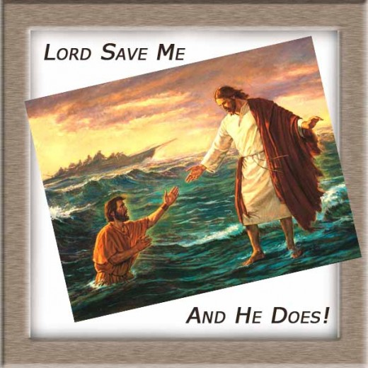 "We cry, ""Lord Save...""  And the Godd New is that He does!"