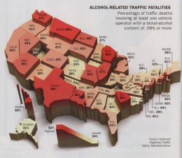 Safe Automobiles by State - Alcohol Fatalities by State