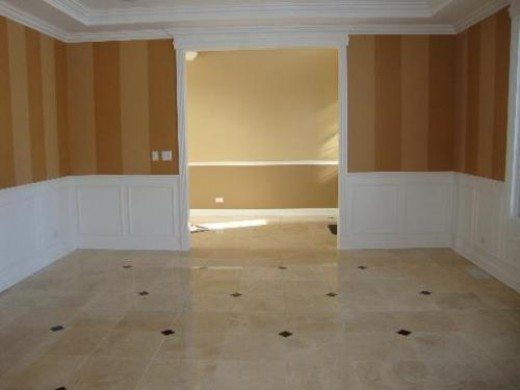 striped walls with waincoting