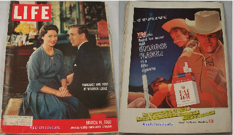 Old Vintage LIFE Magazines - March 14, 1960 - Princess Margaret Southern Sneators Southern Negro Sit-downs Civil Rights Vintage ads