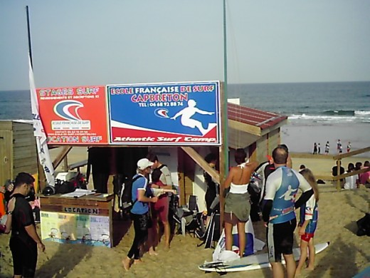 French Surfing school at Capbreton