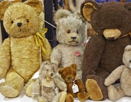"""Vintagee Bears...image from """"Country Living"""""""