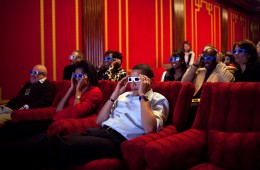 Barack and Michelle enjoy a 3D flick