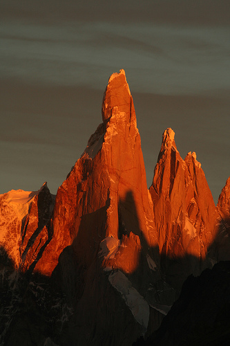 Argentina: Sights. Excellent cloudless view of the Cerro Torre.