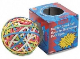 Have a ball. Of rubber bands.