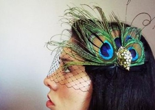 Peacock Bridal Veil Inspiration
