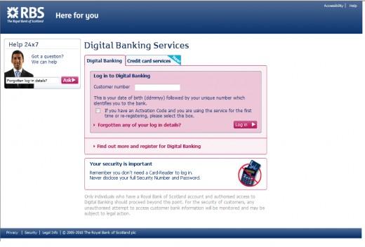 RBS Digital Banking Login