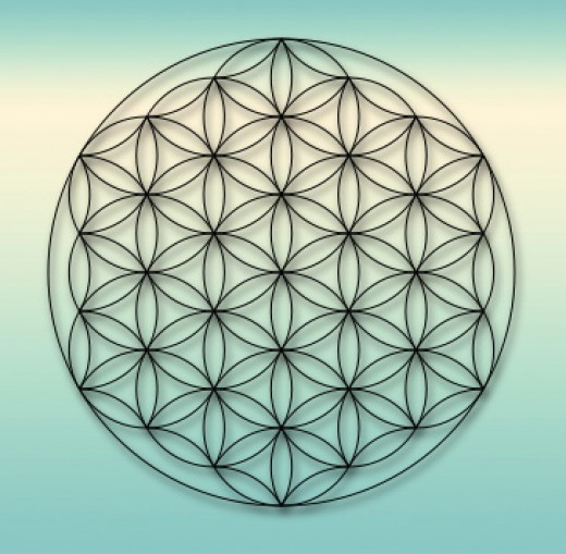 The Flower of Life is the most widely used symbol in sacred geometry.