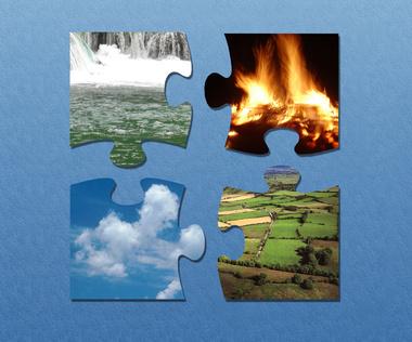 Four Elements: earth, air, fire & water. Image:  Jan Rakic - Fotolia.com