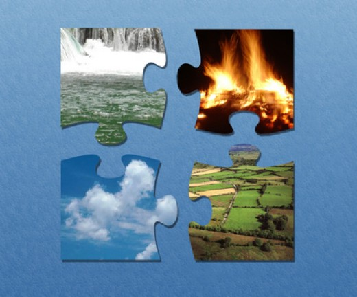 Four Elements: earth, air, fire & water. Image:  Jan Rakic - Fotolia.com