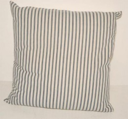 19th Century Blue Ticking Pillow