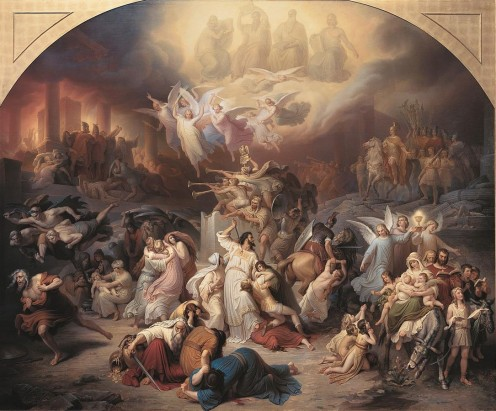 "ARMAGEDDON - ""The Siege of Jerusalem"" - by Wilhelm von Kaulbach (1805-1874)"