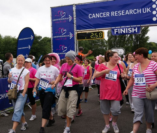 Many like to donate to Cancer research and other cancer-related causes through large races, walks, and other fundraisers.