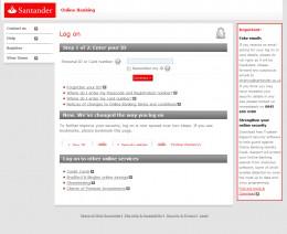 Santander Online Main Page