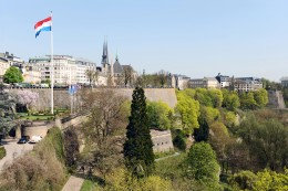 Luxembourg City's Fortress seen from the Pont Adolphe
