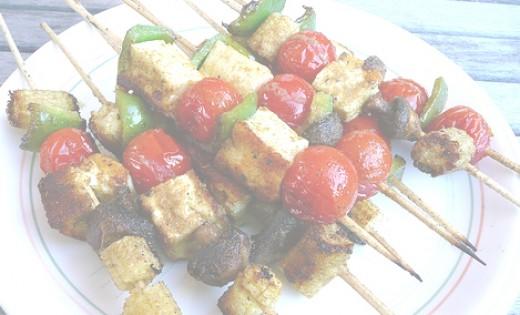 Halloumi cheese kebabs - mmmm