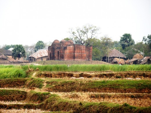 The mosque at a distance