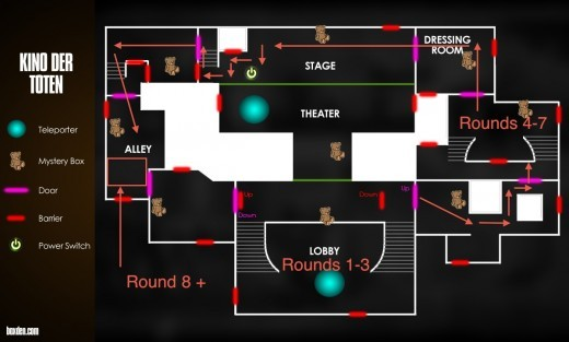 this map is a layout of kino der toten use this with my guide to figure out