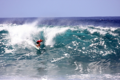 Surfing Kona, Hawaii
